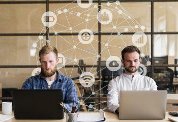 team-members-working-on-office